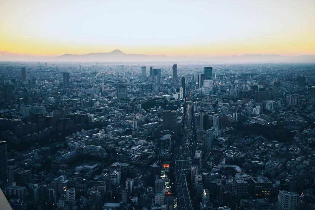 Visitas de Tokio desde la Torre Mori en el barrio Roppongi