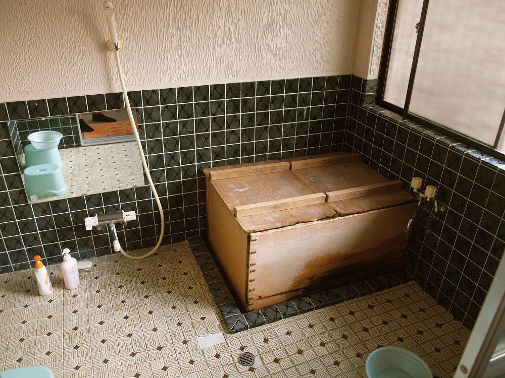Ofuro en una casa japonesa