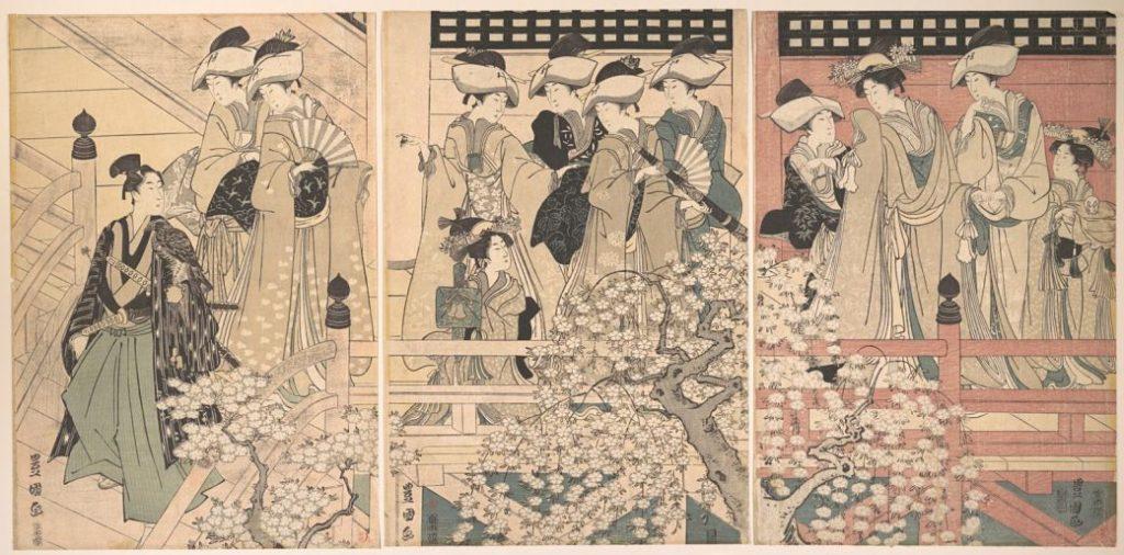 El Bushido en Japón representado por samurais en un grabado de época