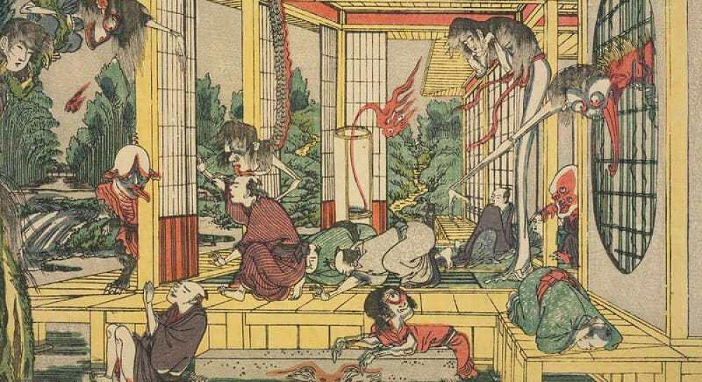 Ilustración yokai japoneses