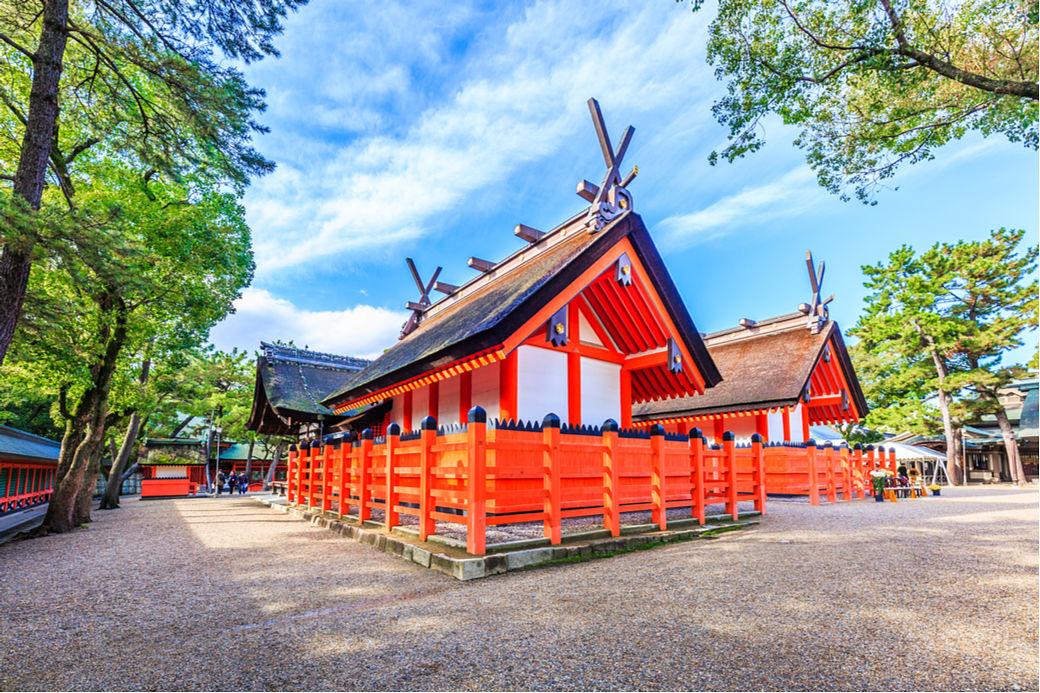 Templo Sumiyoshi cercano a Kioto
