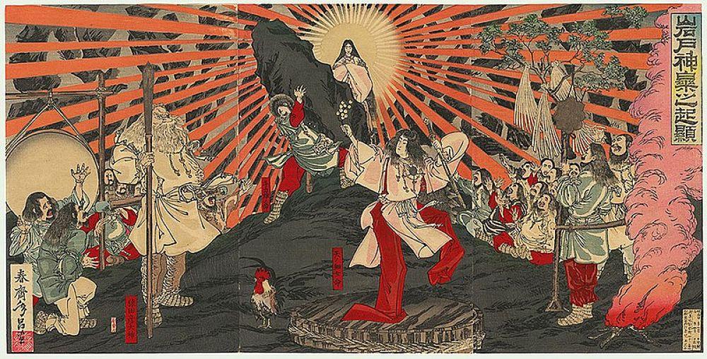 Pintura de Amaterasu, Diosa del sol