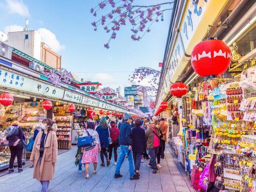 Calle Nakamise de Tokio