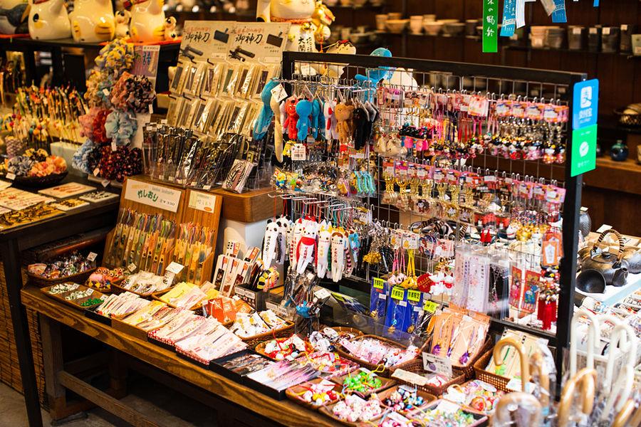 Comprar souvenirs en Japón