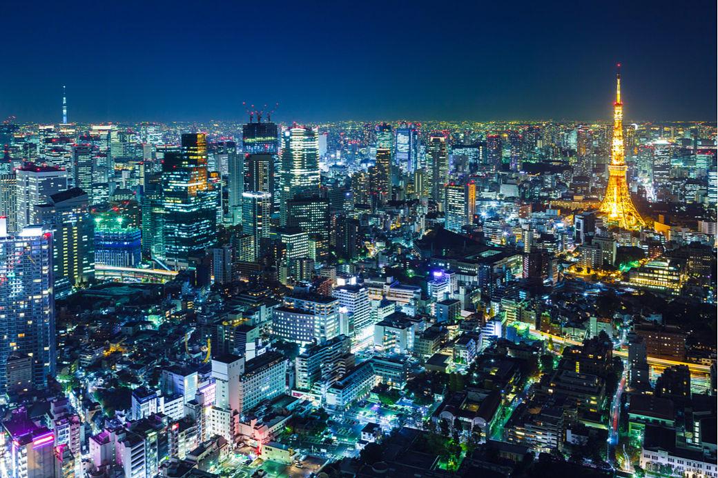 Skyline de Tokio de noche