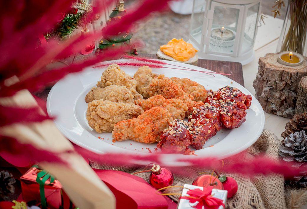 Pollo frito en la Navidad japonesa