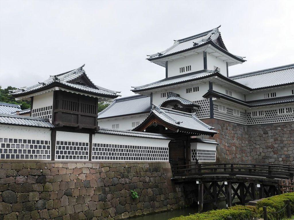 Alrededores castillo de Kanazawa en Japón