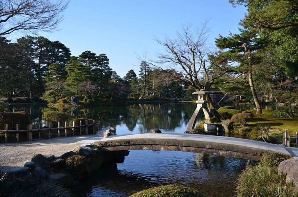 Jardin Kenrokuen de Kanazawa en Japón